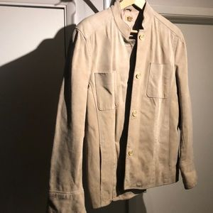 Tan Suede Button-up Jacket